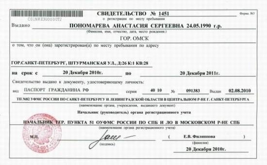 Временная регистрация фмс спб сделать медицинскую книжку срочно в балашихе